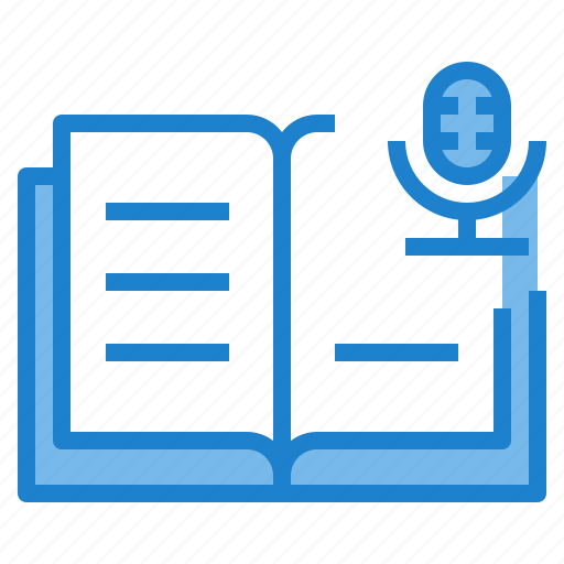 agenda, book, business, microphone, notebook, record icon