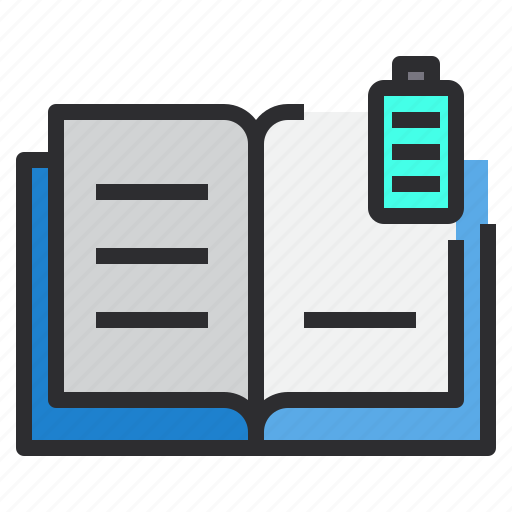 Battery, book, full icon - Download on Iconfinder
