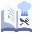 book, cook, cooking, food, kitchen, meal, menu icon