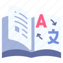 book, dictionary, education, knowledge, learning, library, study icon