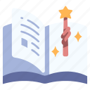 book, fairytale, fantasy, magic, page icon