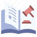 book, court, judge, judgment, justice, law, lawyer icon