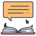 book, computer, digital, ebook, education, internet, technology icon