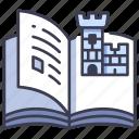 ancient, book, education, history, kingdom, literature, paper icon