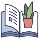 book, botanical, garden, leaf, nature, plant icon