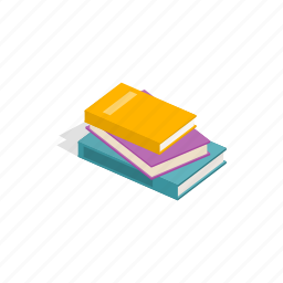 book, education, isometric, knowledge, literature, paper, textbook icon