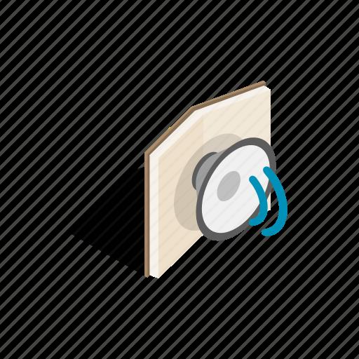 audio, book, education, isometric, library, school, sound icon