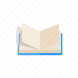 book, education, isometric, library, literature, page, paper icon