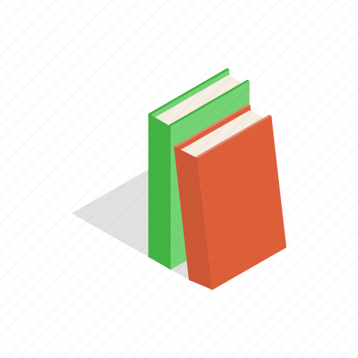 book, education, isometric, literature, paper, textbook icon