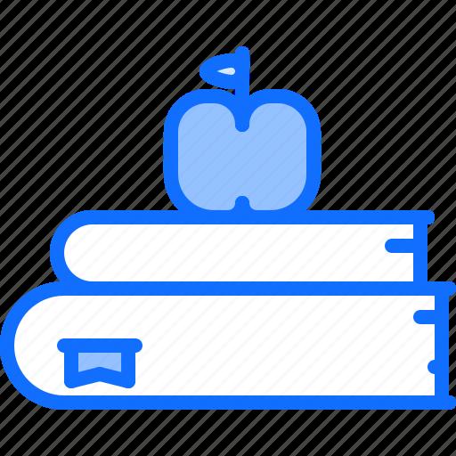 apple, book, books, literature, reading, shop icon
