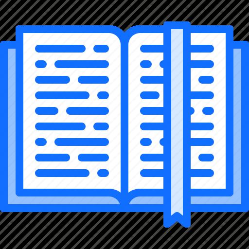 book, bookmark, literature, open, reading, shop icon