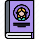 book, fantasy, genre, literature, reading, shop icon