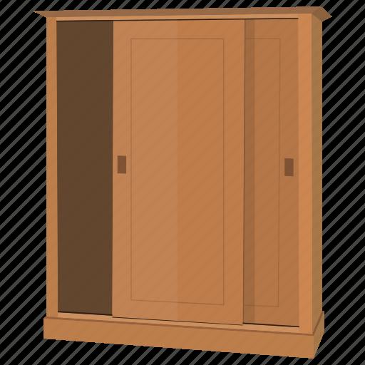 book, bookcase, bookshelf, clothes, equipment, furniture, wardrobe icon
