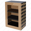 book, bookcase, bookshelf, clothes, equipment, furniture, wardrobe icon