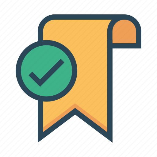 Bookmark, done, ribbon, tag, tick icon - Download on Iconfinder