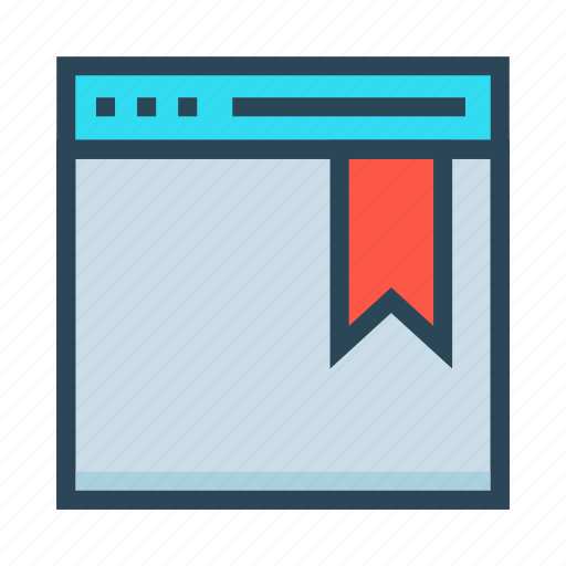 bookmark, browser, internet, webpage, window icon