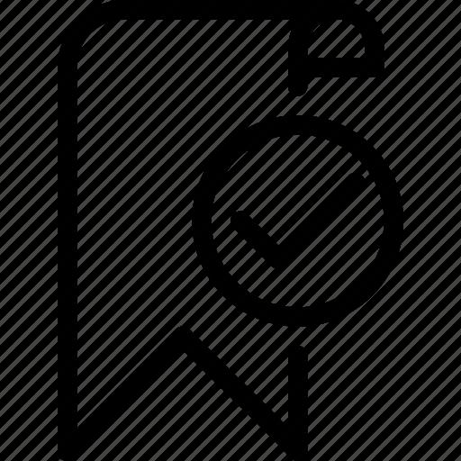 bookmark, done, favourite, mark, success icon