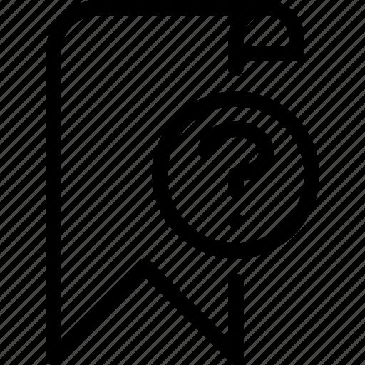 bookmark, favourite, preference, question icon
