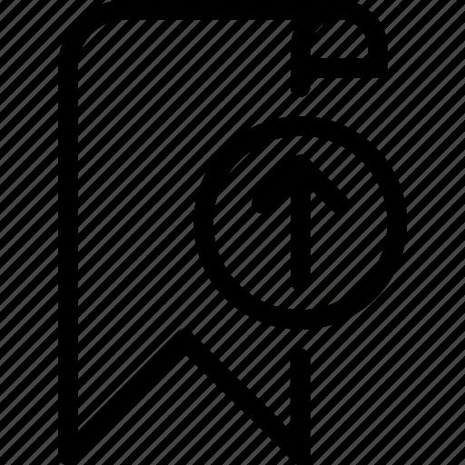 bookmark, favourite, loading, marking, upload icon