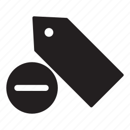 bookmark, delete, label, minus, price, tag, tags icon