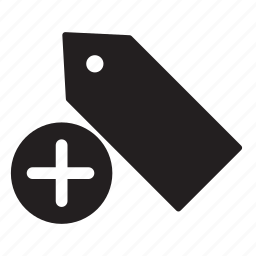 add, bookmark, label, plus, price, tag, tags icon