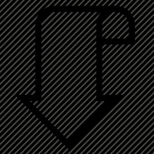 arrow, bookmark, label, ribbon, tag icon