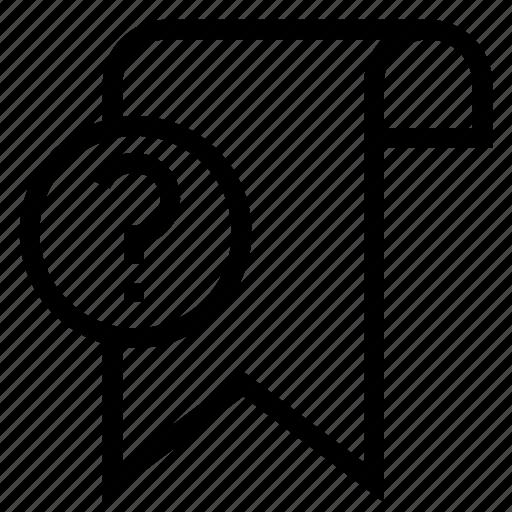 bookmark, favorite, help, ribbon, tag icon