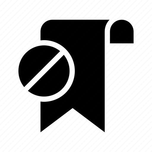 block, bookmark, favorite, ribbon, tag icon