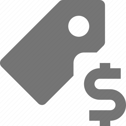 dollar, money, tag icon
