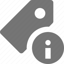 information, tag icon
