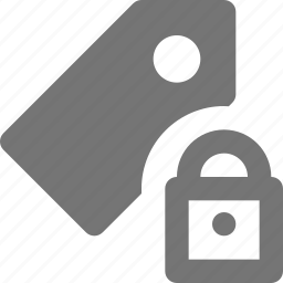 lock, secure, security, tag icon