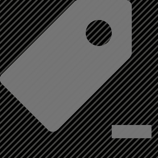 minimize, minus, tag icon