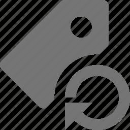 arrow, refresh, reload, sync, tag icon