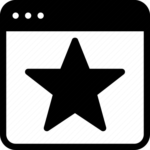 bookmark, favourite, like, site, star icon