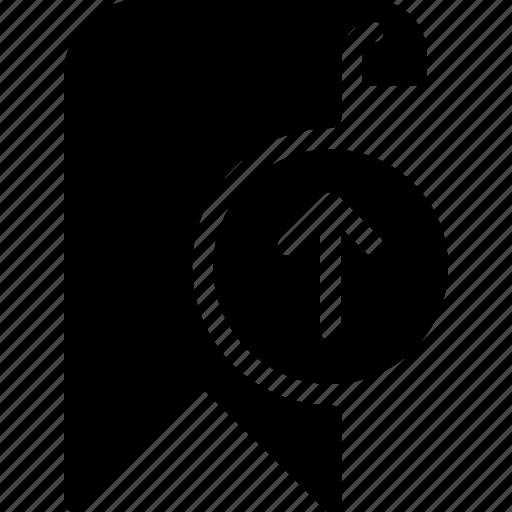 bookmark, favorite, up, upload icon