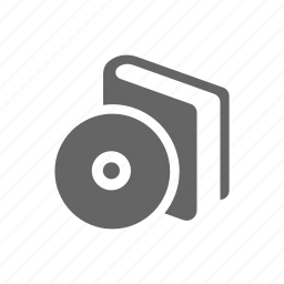 audio, book, disk icon