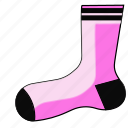 footwear, sock, socks, stocking, stockings, winter icon