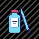 drug, injection, medication, medicine, syringe, vaccine, vial icon