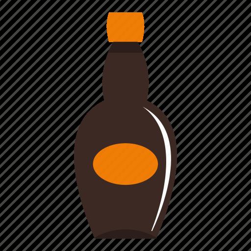 beverage, big bottle, bottle, bottled, brown, clean, cold icon