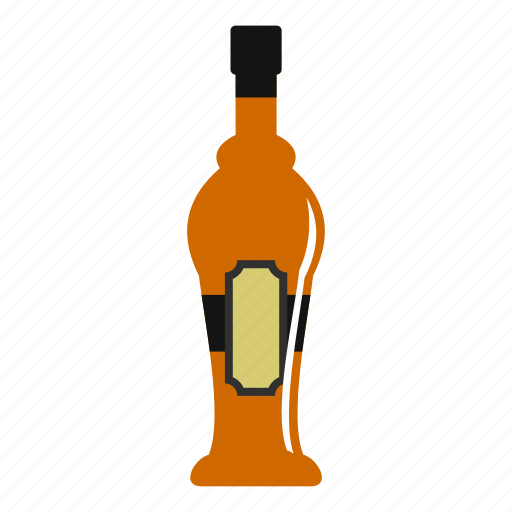 alcohol, alcohol bottle, bar, beverage, bottle, drink, glass icon