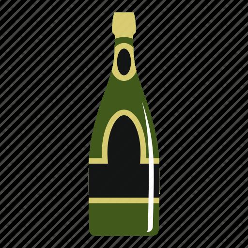 alcohol, bar, beverage, bottle, champagne bottle, drink, glass icon