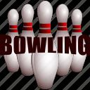 bowling, bowling pin, bowling pins, pins icon