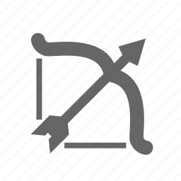 aiming, archery, arrow, bow, effort, longbow, targeting icon