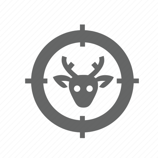 accuracy, aiming, animal, archery, hunting, target, targeting icon