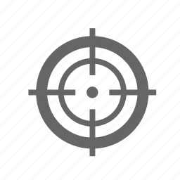 accuracy, aiming, archery, hunting, point, target, targeting icon