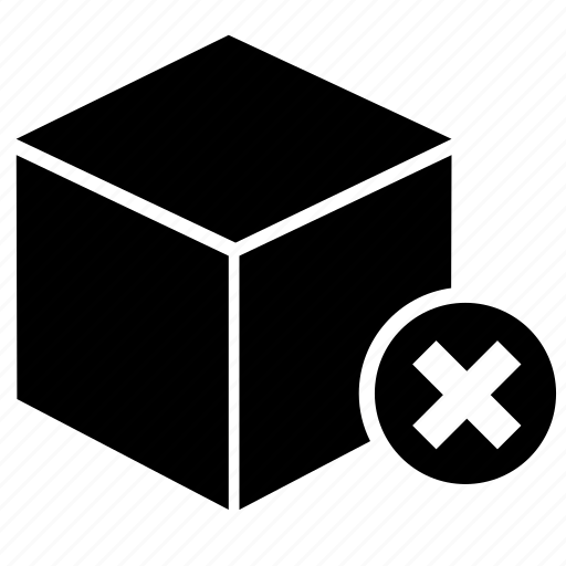 archive, box, cancel, delete, pack, package, storage icon