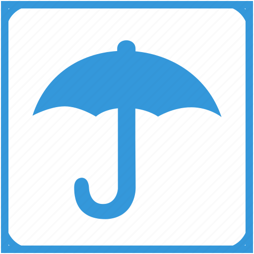 box, delivery, item, rain, safety icon