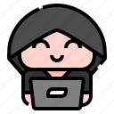 hoodie, man, user, avatar, people, character, costume icon