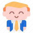 business, man, user, avatar, people, character, costume icon