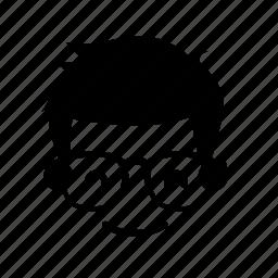 boy, coder, face, hair icon